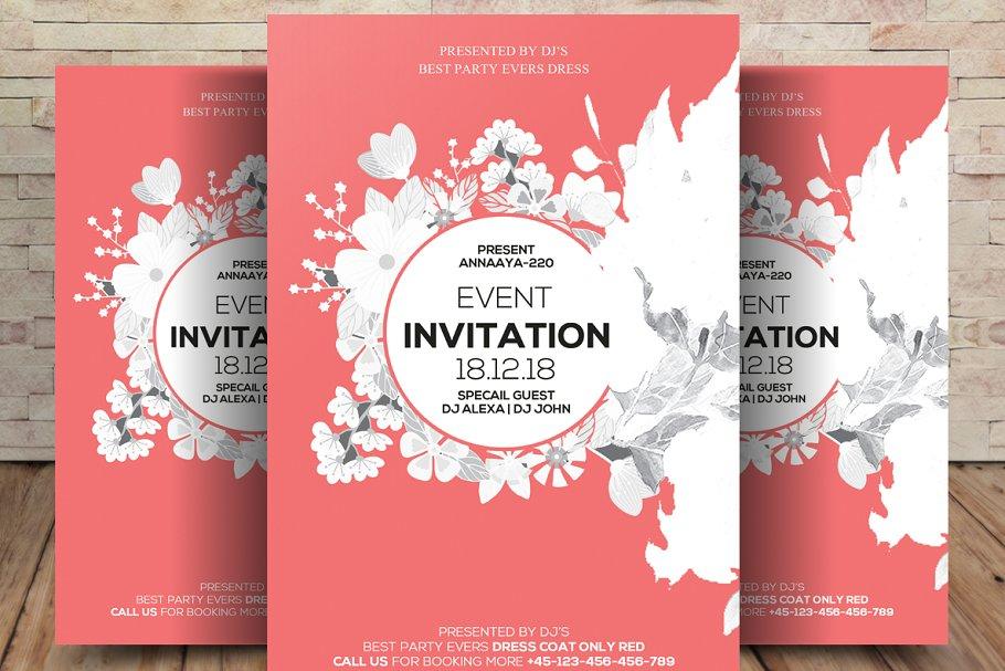 Event Flyer Invitation Card Flyer Templates Creative