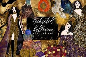 Enchanted Halloween clip art