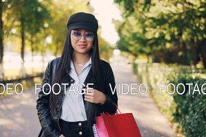 Portrait of cute Asian girl in