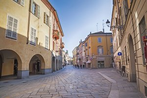 day street  in Parma, Italy