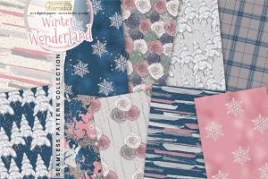 Winter wonderland pattern collection