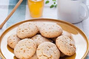 Homemade sugar honey cookies