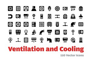 110 Ventilation and Cooling Icons