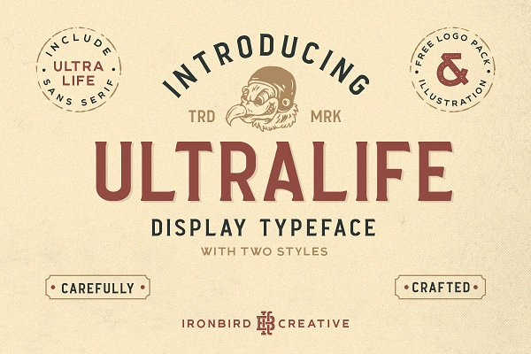Display Fonts - Ultralife Typeface