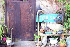 "Cottage Front Door ""For Sale"" Sign"