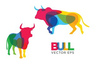 Creative Bull Vector Design Animal