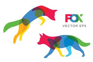 Creative Fox Vector Design Animal