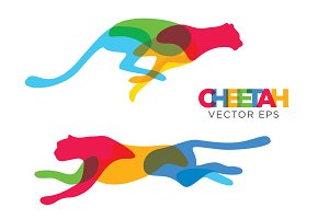 Creative Cheetah Vector Animal