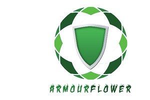Armour Flower Logo Template