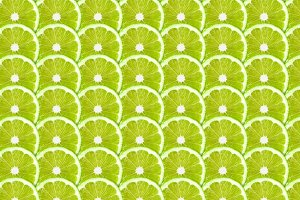 Green lime slices pattern background