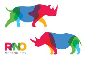 Creative Rhinoceros Vector Animal