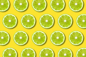 Green lime slices texture