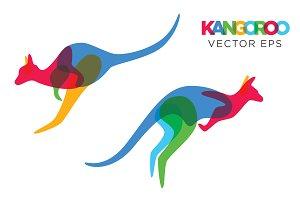 Creative Kangaroo Vector Animal