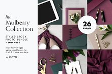 The Mulberry Collection Photo Bundle by  in Product Mockups