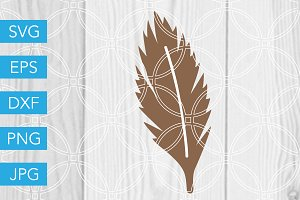Feather SVG Cut File Thanksgiving