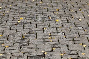concrete tiles on the road