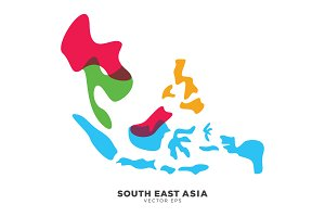 South East Asia Map Vector