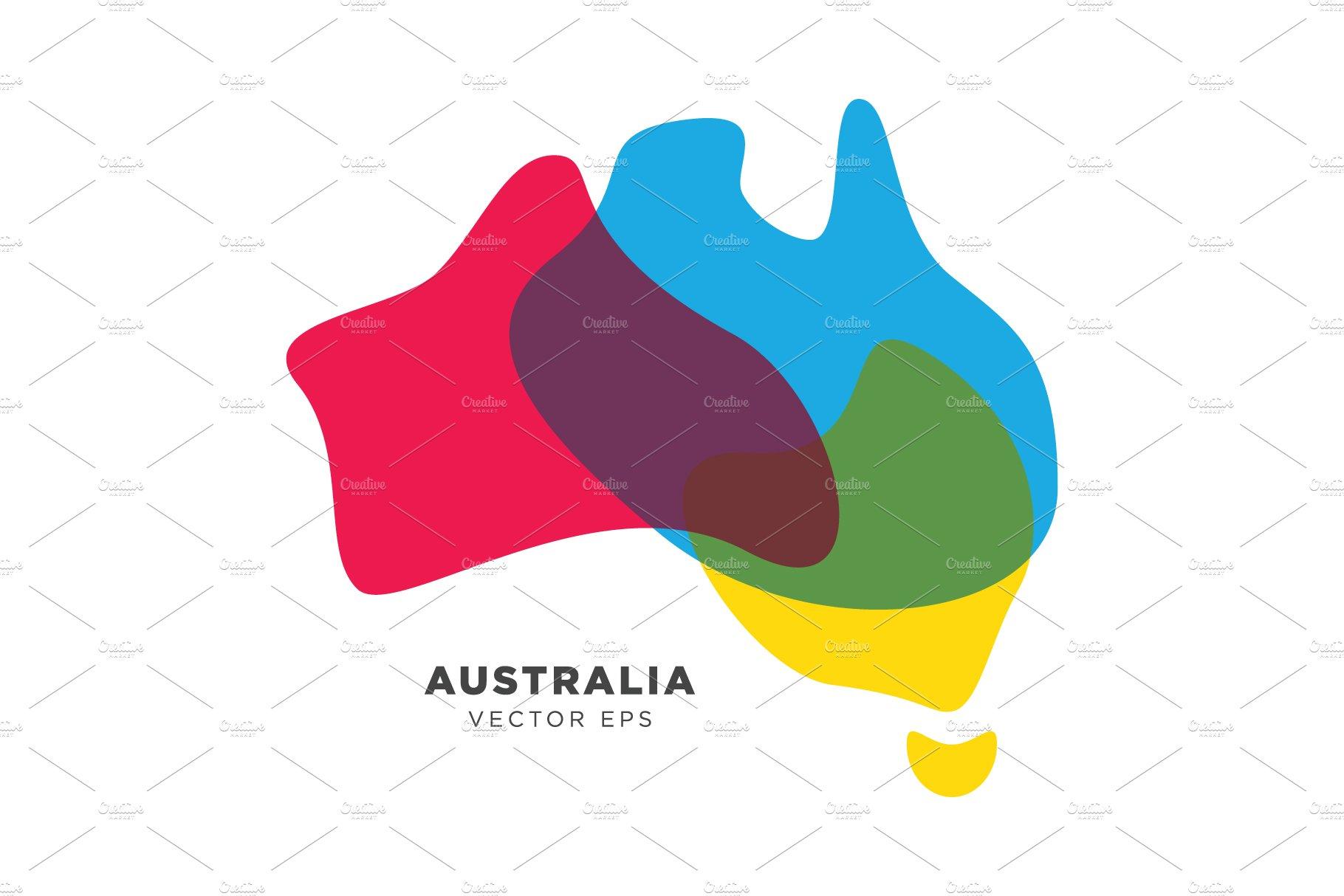 Map Of Australia Logo.Australia Map Vector