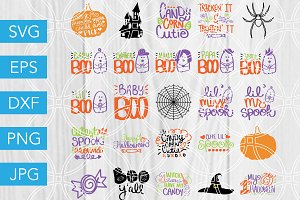 Halloween SVG Bundle Handlettered
