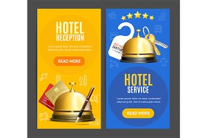 Hotel Reception Service Banner Set