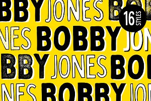 Bobby Jones - 16 Fonts