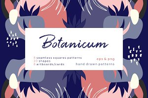 Botanicum. Abstract pattern set.