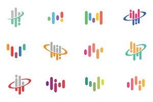Creative Audio Wave Symbol