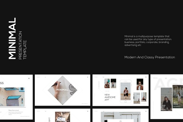 Presentation Templates - Minimal Googleslide Template