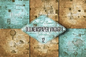 Old newspaper vintage digital paper2