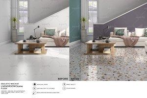Floor Mockup Livingroom Scene SM27