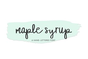 Maple Syrup, Hand-Lettered Font