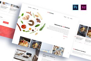 HotKitchen: PSD & XD Templates