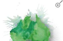 Watercolor Australia map
