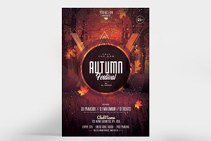 Autumn Fall Festival - PSD Flyer