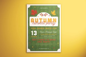 Autumn Harvest Party Flyer