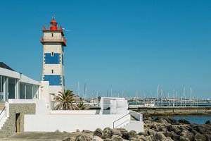 Lighthouse in the harbour of Cascais
