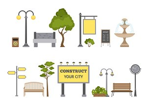 City landscape design object set