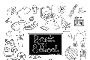 Back to school doodle poster