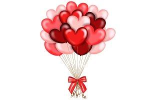 Heart Balloons Clipart