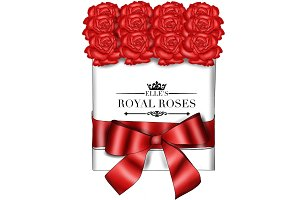 Box of Red Roses Clipart