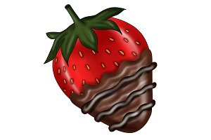 Chocolate Covered Strawberry Clipart