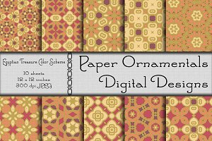 Digital Paper, Egyptian Treasure