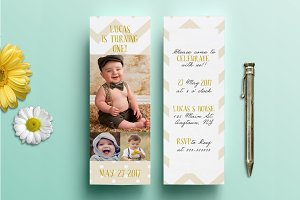 Bookmark Birthday Invitation