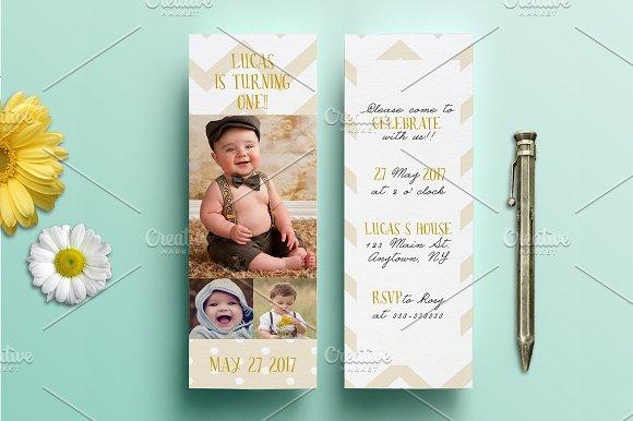 bookmark birthday invitation stationery templates creative market
