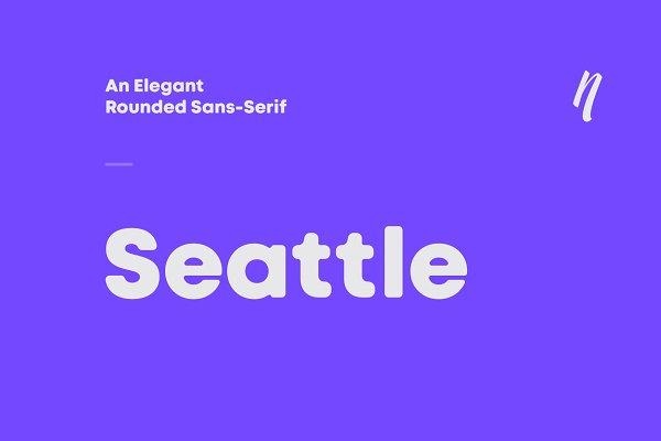 Fonts - Seattle sans - Elegant sans serif