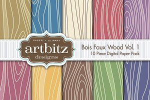 Bois V1, Faux Wood Digital Paper