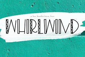 Whirlwind - A Fun Handwritten Font