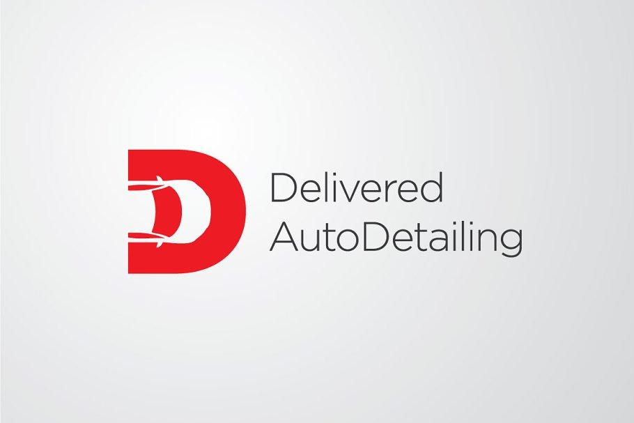 Delivered Autodetailing Vector Log Logo Templates Creative Market