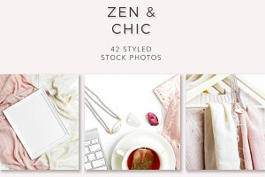 Zen & Chic (42 Styled Stock Photos)
