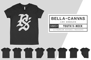Bella Canvas 3005Y Youth V-Neck